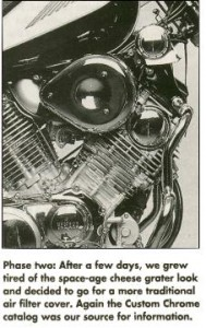 Tear Drop Filter Virago Intake  Manifesto